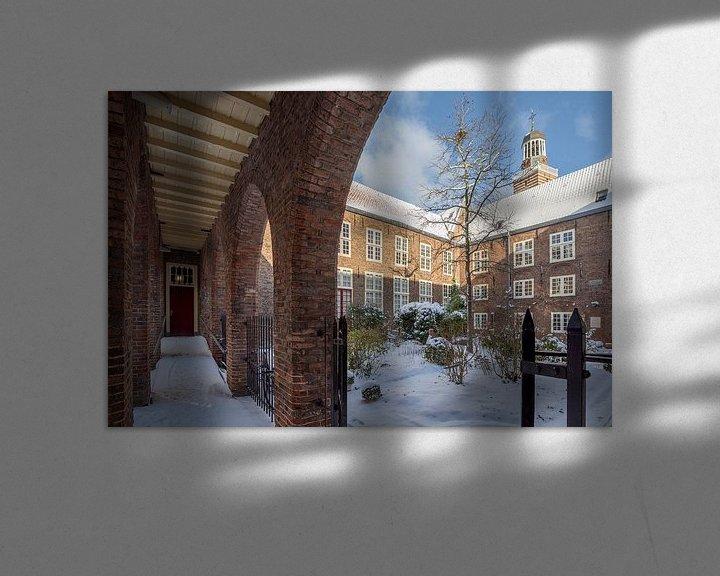 Sfeerimpressie: Doelenhuis in de winter, Utrecht van André Russcher
