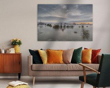 Hoogwater bij Ravenswaaij van Moetwil en van Dijk - Fotografie