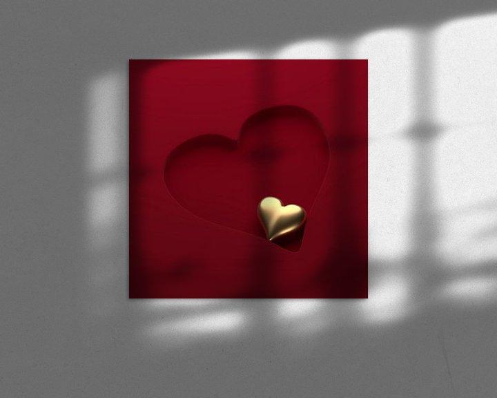 Sfeerimpressie: Hart in hart 1 van Jörg Hausmann