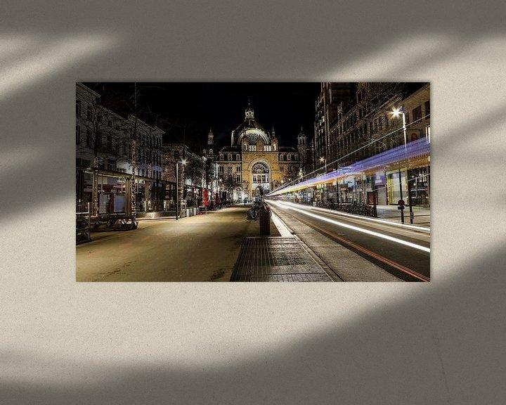 Beispiel: Blick auf den Antwerpener Hauptbahnhof von Ronny Struyf