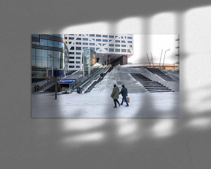 Sfeerimpressie: Besneeuwd Jaarbeusplein in Utrecht van De Utrechtse Internet Courant (DUIC)