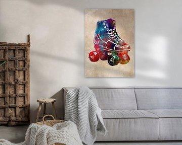 Rollschuhe Sport Kunst #Roller #Schlittschuhe von JBJart Justyna Jaszke
