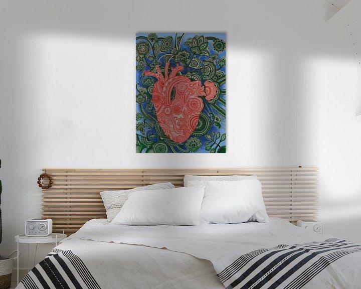 Beispiel: Phantasievolles menschliches Herz von Drawing made by Lin