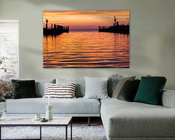 Zonsopkomst in de haven van Oudeschild op Texel van Everydayapicture_byGerard  Texel