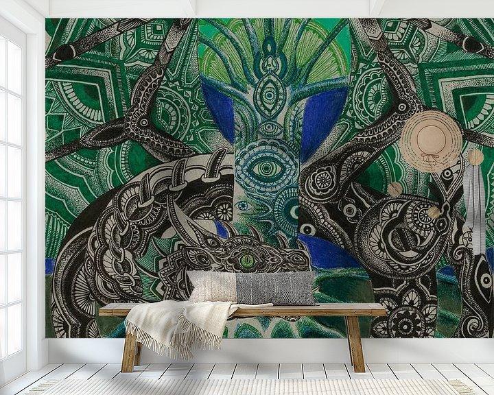 Beispiel fototapete: Das alles sehende Auge von Drawing made by Lin