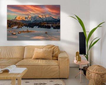 Winter in den bayerischen Alpen von Dieter Meyrl