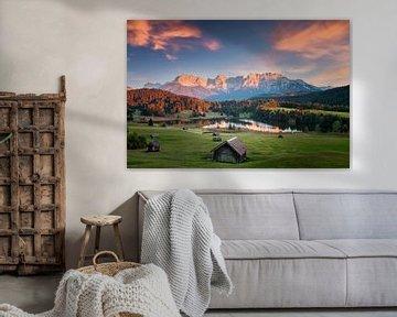 Bergmeer in de Beierse Alpen van Dieter Meyrl
