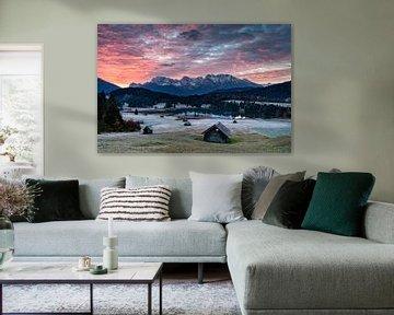 Bergsee in den bayerischen Alpen von Dieter Meyrl