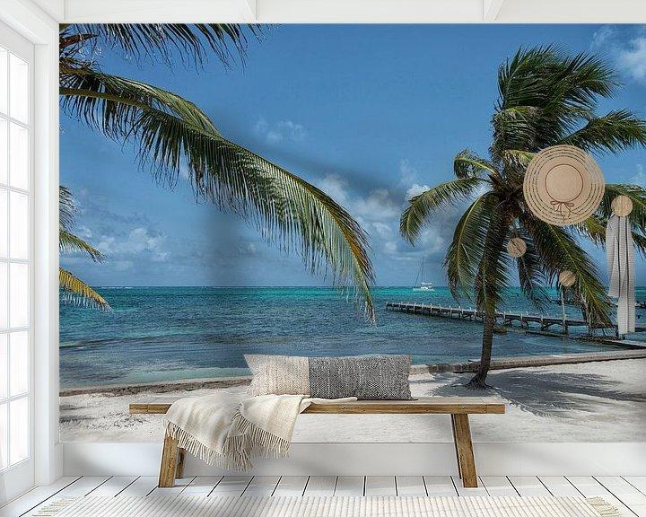 Sfeerimpressie behang: Coconut paradise van Aline van Weert