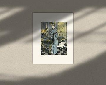 Het meisje | Historische mode advertentie | Art Deco van NOONY