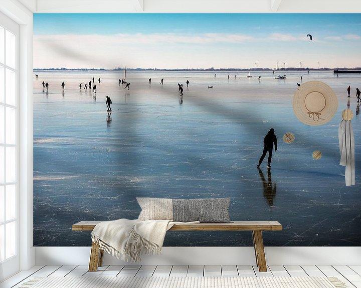 Impression: Les patineurs sur la glace de Hoorn sur Jan van der Knaap