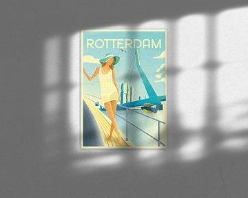 Rotterdam art deco illustration von Daniel Wark