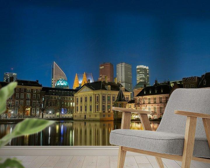 Beispiel fototapete: Skyline Den Haag von Peter Sneijders