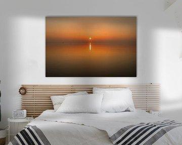 Winterse Zonsondergang aan de Oesterdam van Sabina Meerman