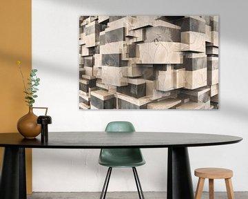 Q-Cubes 3D - Des effets brillants dans la pièce