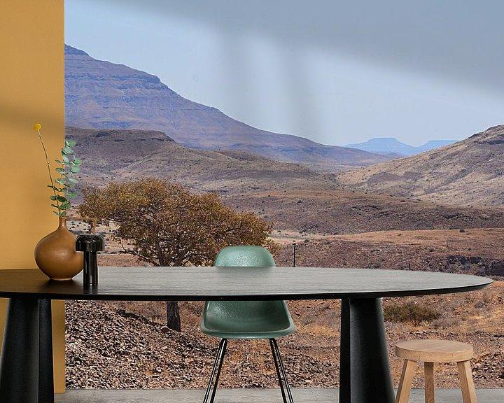 Sfeerimpressie behang: In the middle of nowhere in Namibië van JTravel