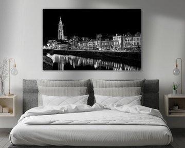 L'horizon de Roermond en noir et blanc sur Adelheid Smitt