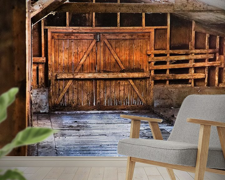 Sfeerimpressie behang: Boerenschuur van Lennart Aangeenbrug