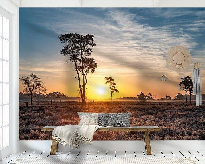 Impression: Lever de soleil sur les dunes de Drunense sur Mark Bolijn