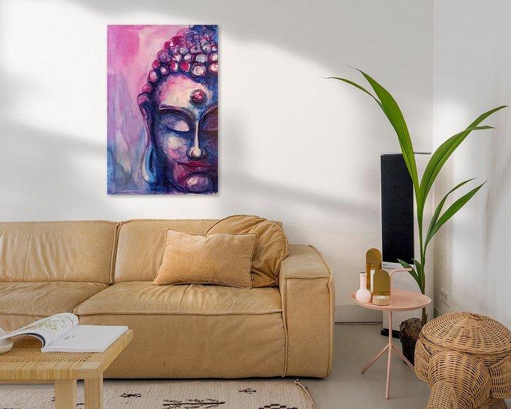 Sfeerimpressie: Boeddha paars 05032021 van Michael Ladenthin