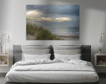 Zonsondergang bij de duinen in Westkapelle, zeeland van Rossum-Fotografie