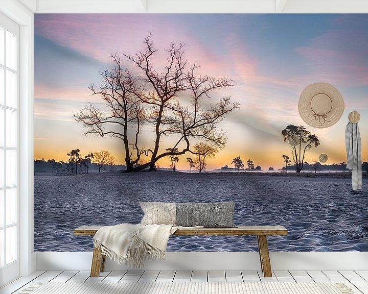 Sfeerimpressie behang: Zonsopkomst met kleur van Mark Bolijn