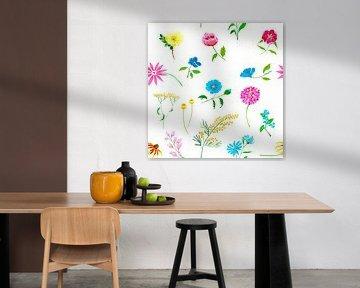 Fleurig naadloos bloemenpatroon van Ivonne Wierink