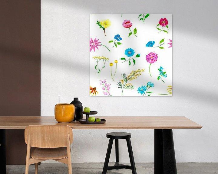 Beispiel: Buntes nahtloses florales Muster von Ivonne Wierink