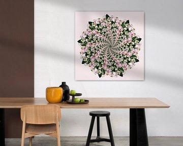 spiraal mandala roze van Klaartje Majoor