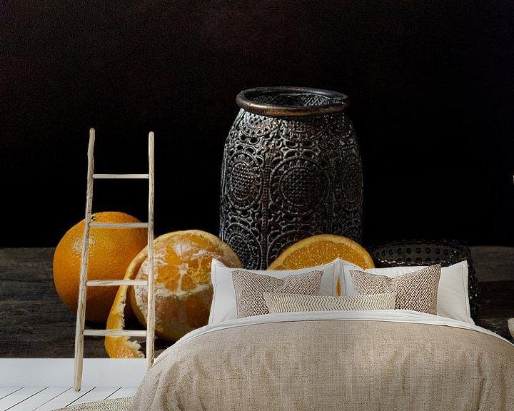 Beispiel fototapete: Stillleben Orangen von Ilona van der Burg