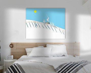 Zu Hause im Winter von WatercolorWall