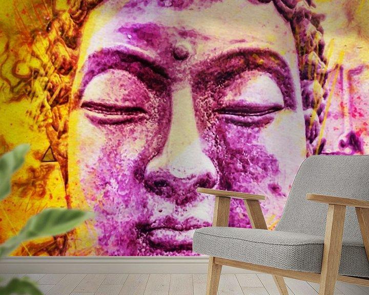 Beispiel fototapete: Buddha - Bunt 07032021 von Michael Ladenthin