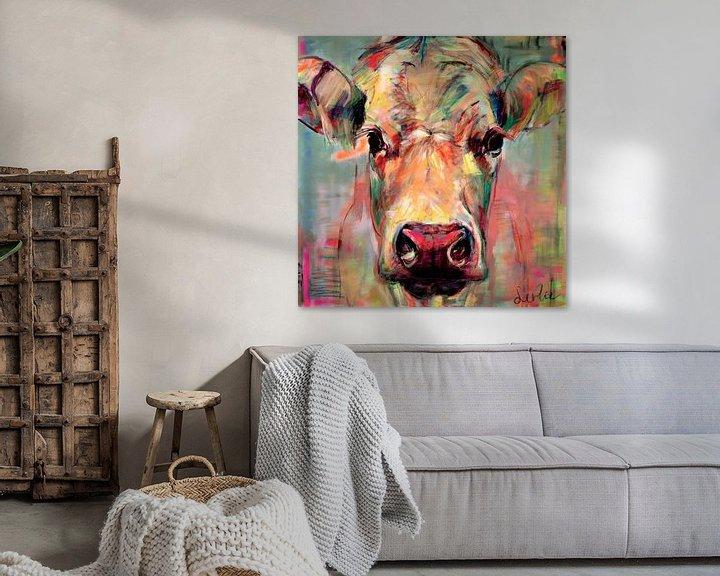 Beispiel: Porträt Kuh 'süße Dame Jane' von Liesbeth Serlie