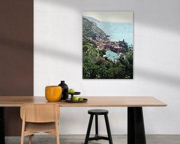 Küstenlinie der Cinque Terre bei Vernazza - Italien - Gemälde von Schildersatelier van der Ven