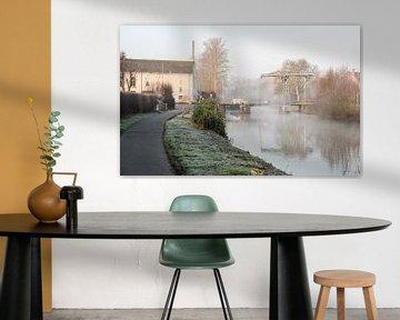 Ophaalbrug aan de Dender van Marcel Derweduwen