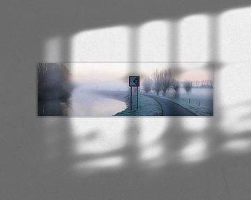 Ochtend mist langs de Dender van Marcel Derweduwen