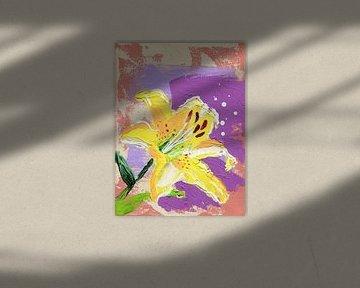 Gele Aziatische lelie | Lilium Asiatic Yellow, FreeStyle van ART Eva Maria