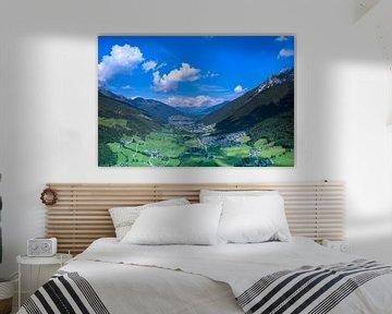 Vue aérienne du Zillertal, Tyrol sur Guenter Purin