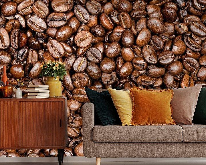 Sfeerimpressie behang: Koffiebonen gebrand van Tilo Grellmann | Photography
