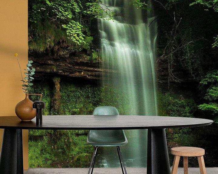 Impression: Long exposed beautiful waterfall in Ireland 2 sur Boy  Driessen