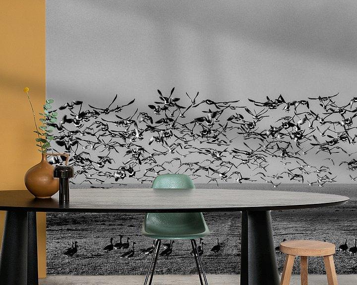 Sfeerimpressie behang: Spreid je vleugels van Ton de Koning