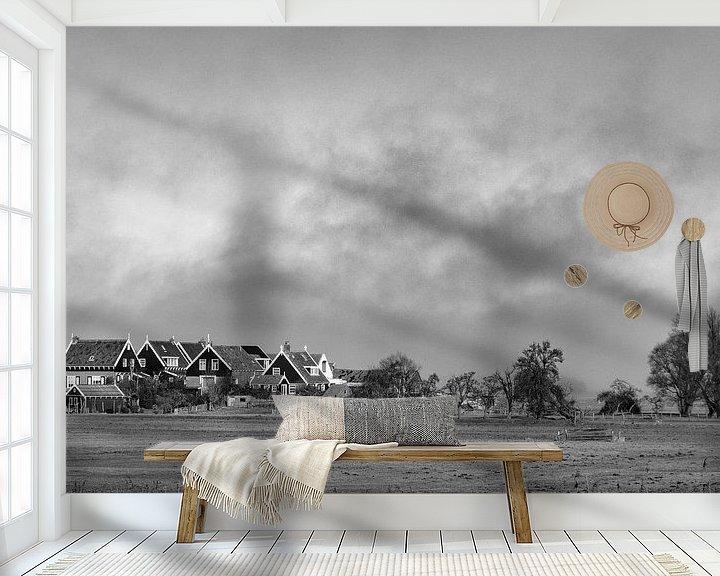 Sfeerimpressie behang: Hollands Landschap van Ton de Koning