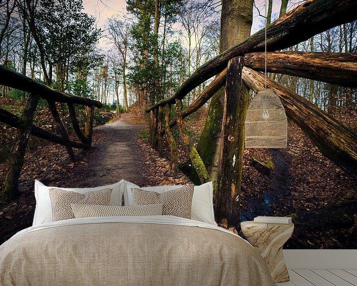 Sfeerimpressie behang: Hemelse berg in Renkum | Landschap & Natuur van Steven Dijkshoorn