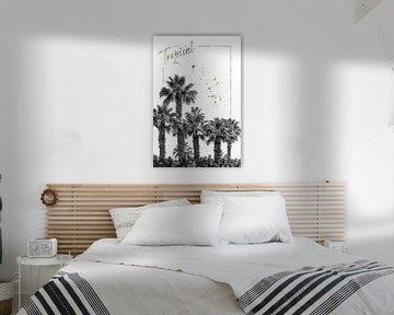 Palm Impressie | Tropisch van Melanie Viola