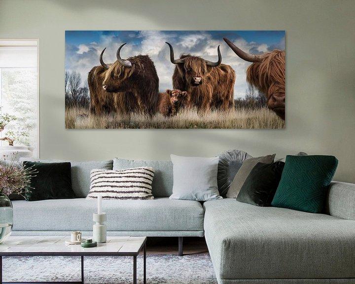 Sfeerimpressie: Panorama van Schotse Hooglanders van Bert Hooijer