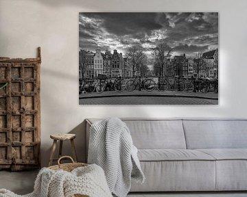 Keizersgracht in Amsterdam van Peter Bartelings Photography