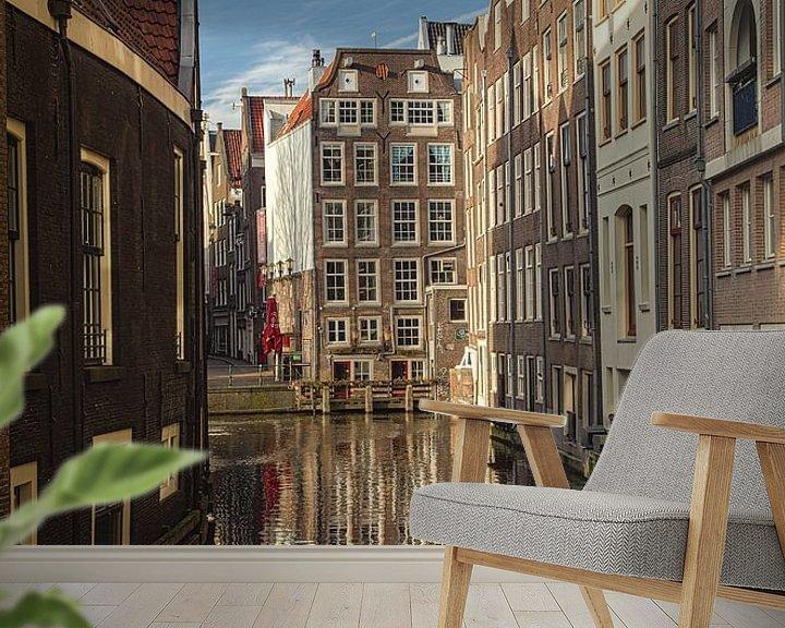 Sfeerimpressie behang: De wallen Amsterdam van Bart Hagebols