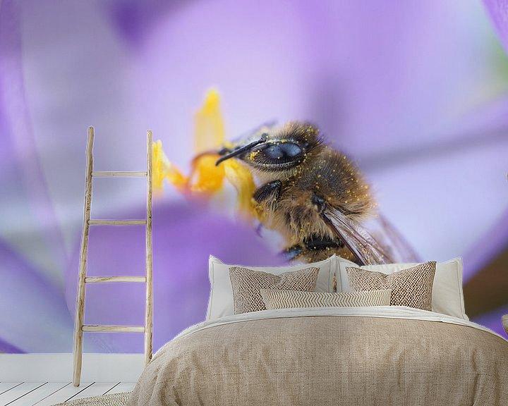 Beispiel fototapete: Verkostungsbiene von Astrid Brouwers