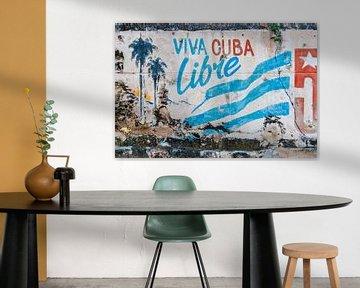 Graffiti revolutie Cuba 2 van Corrine Ponsen