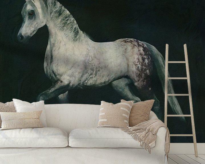 Sfeerimpressie behang: Paard stappend van Jan Keteleer